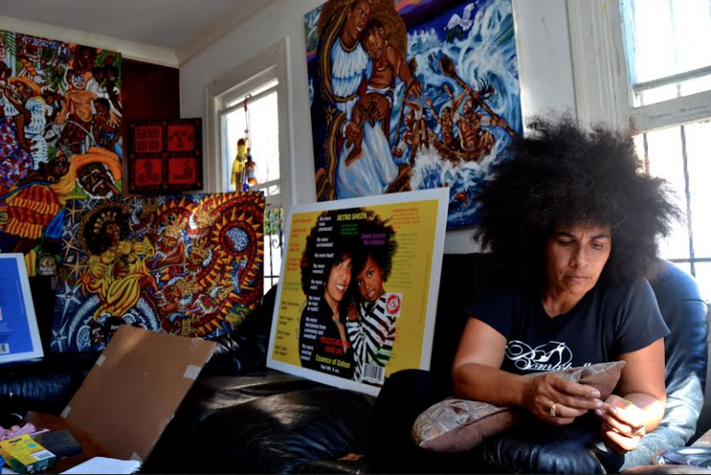 Afro-Cuban visual artist Lili Bernard reflects on her experiences, culture and how the two have impacted her career. (Ashley Nash/Neon Tommy)