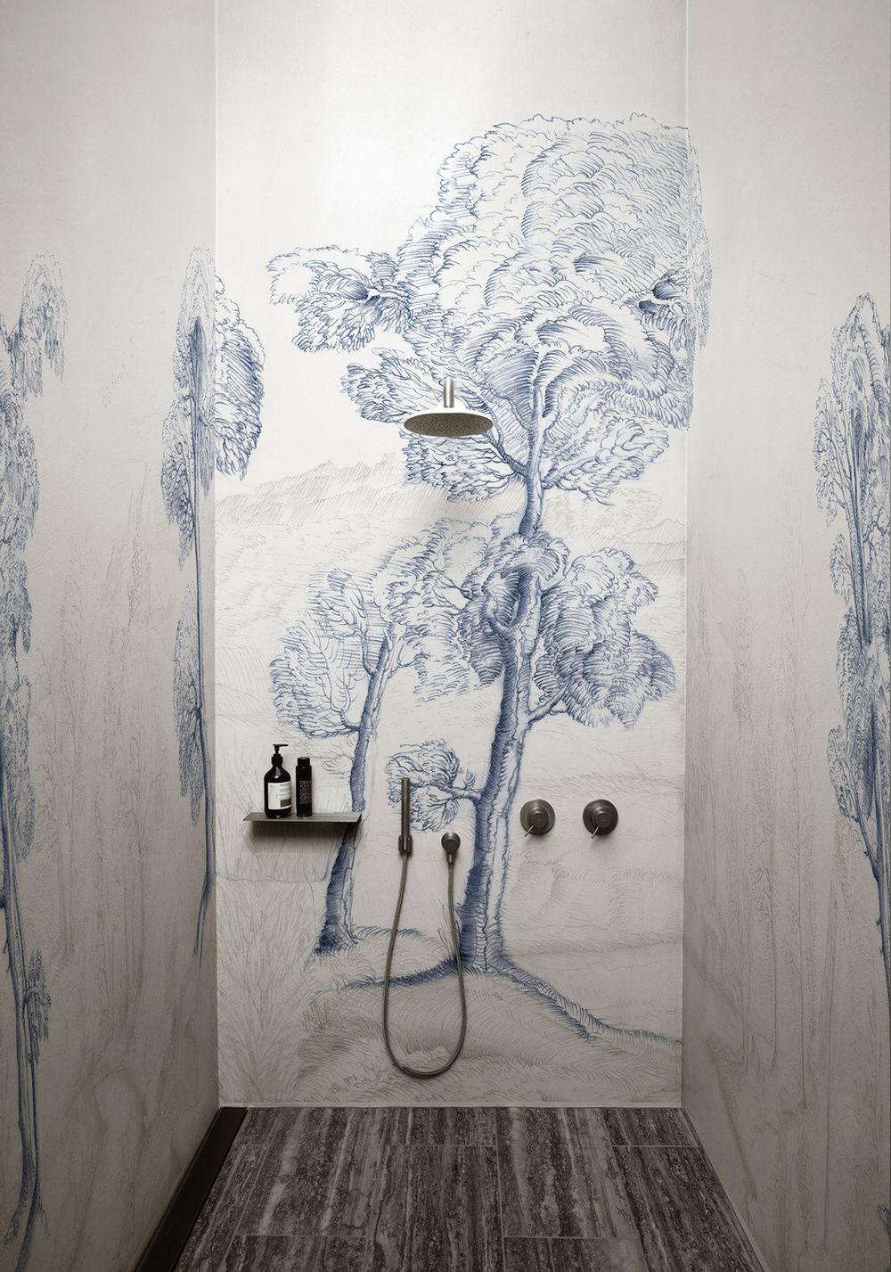Wet System The Shower Wallpaper Wall Deco Salle De