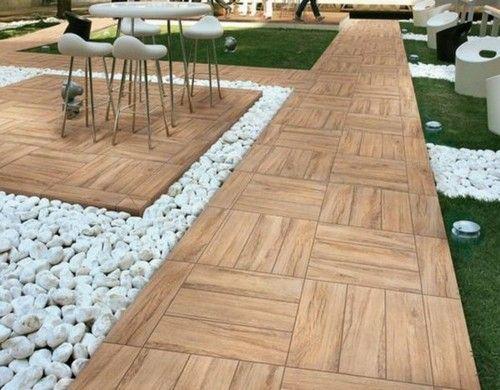 Holzfliesen Verlegen Holzboden Auf Dem Balkon Außenböden Holzfliesen Terassenideen
