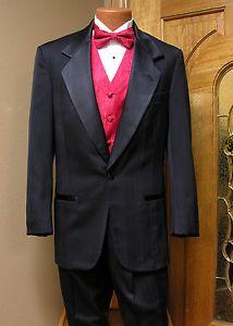 Black-Tuxedo-Coat-Adjustable-Pants-Pinstripe-Steampunk-Cosplay-Prom-Firenze-Danc