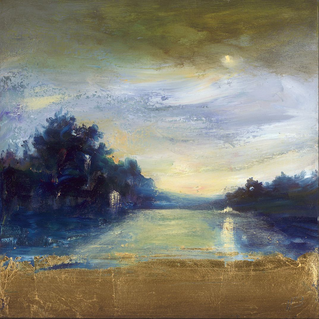 Deep Blue Landscape 2008 By Holland Berkley Landscape