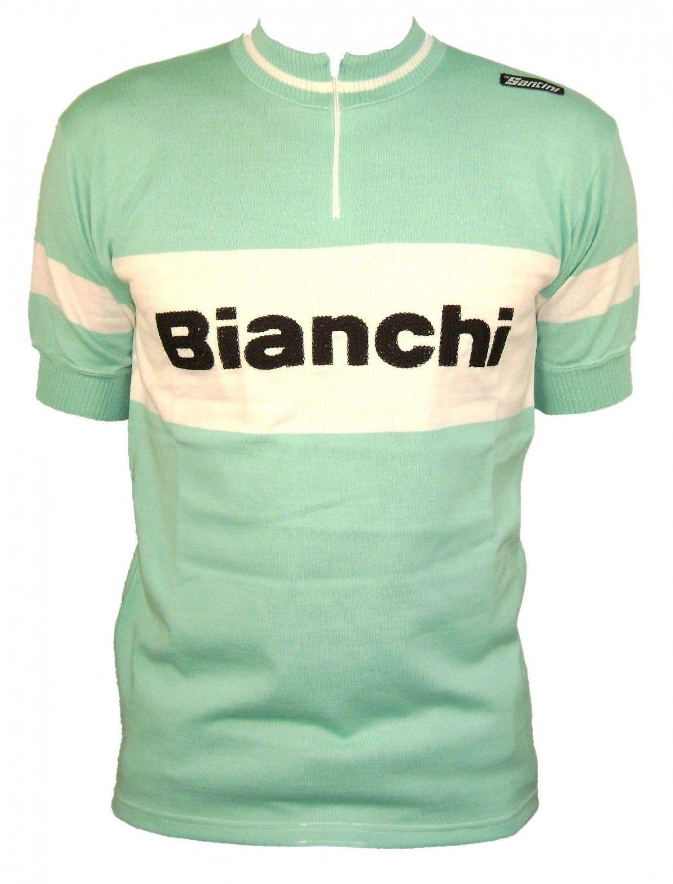 Bianchi s retro wool jersey in celeste  001c3720d