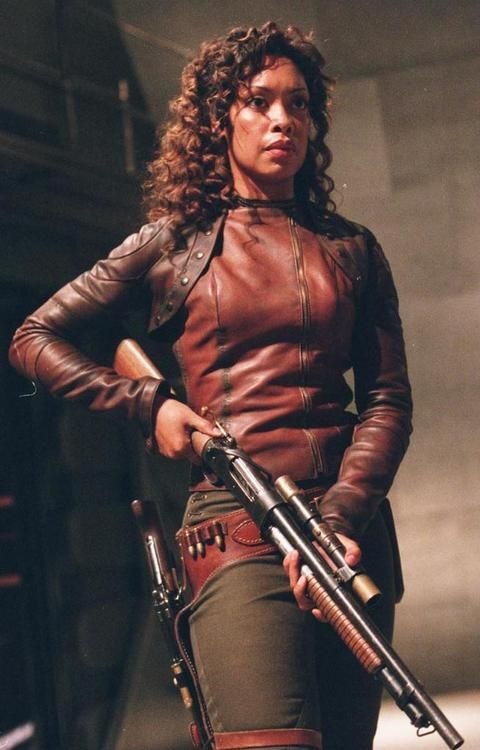 Gina Torres as former cpl. Zoe Washburne on Firefly