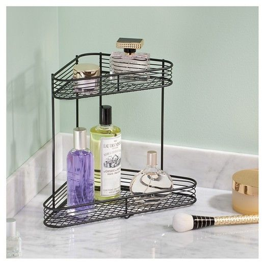 Bathroom Corner Storage Shelves - Black - (2-Tier) - Room Essentials