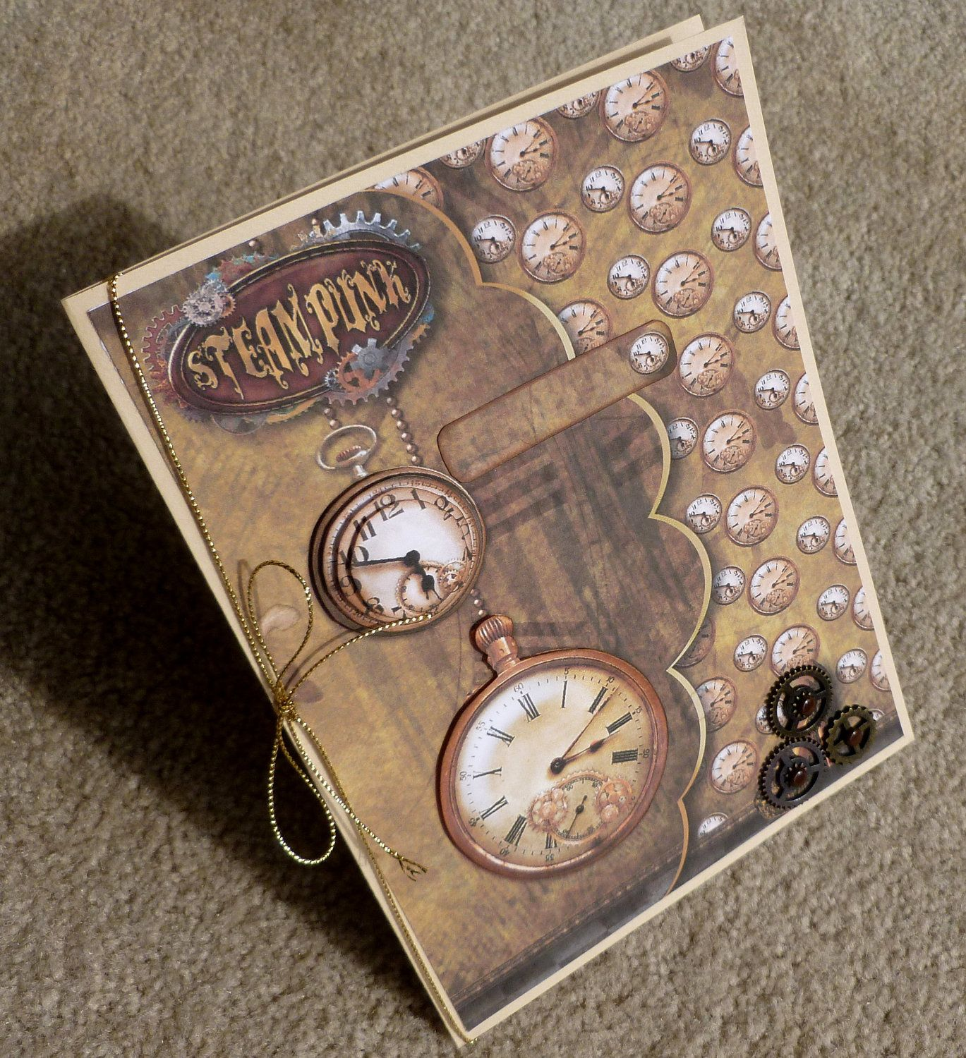 Steampunk Greeting Card Handmade Google Search Stamping