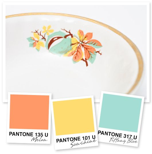 Orange, Yellow and Tiffany Blue Color Palette – Sarah Hearts