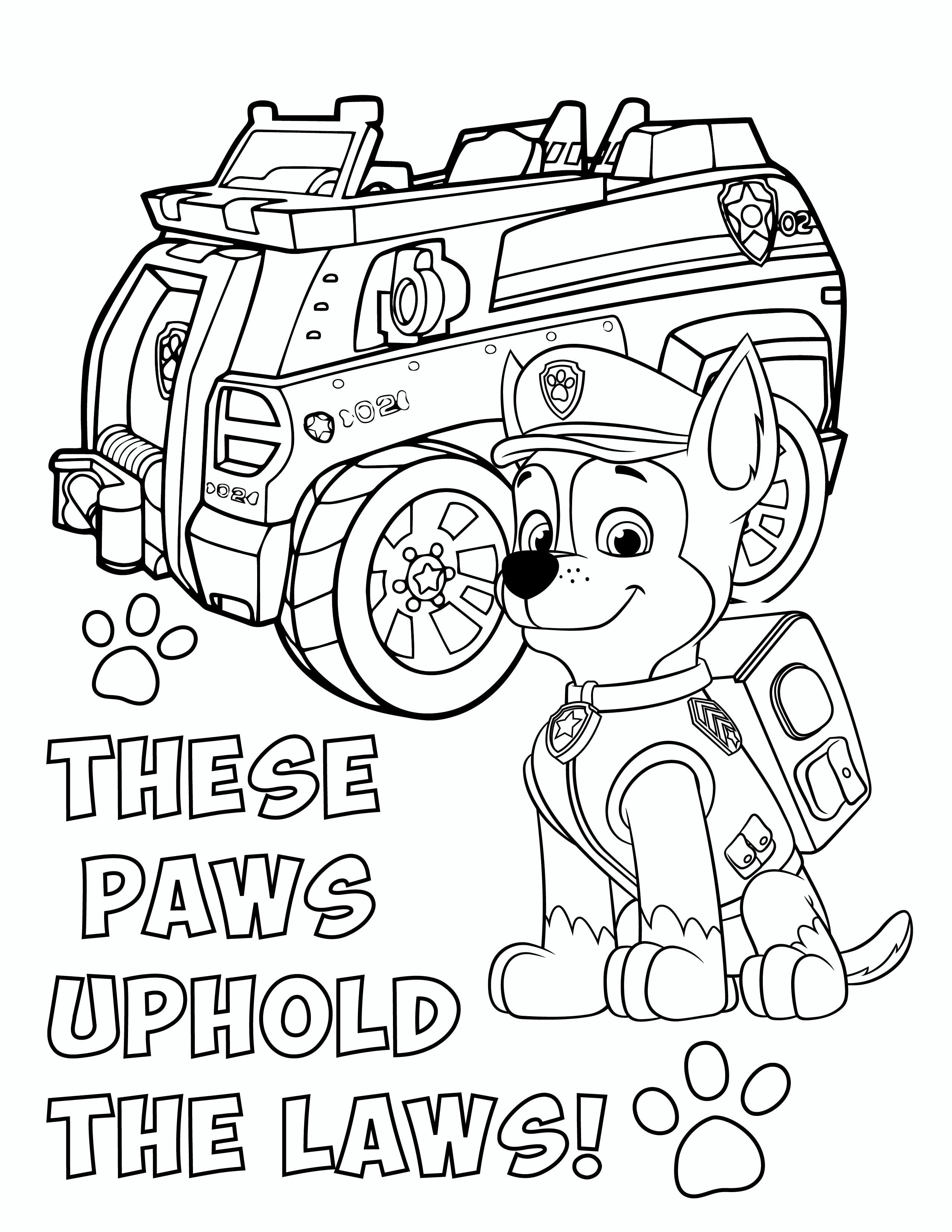 Paw Patrol Coloring Pages Free Malarbok For Barn Barn