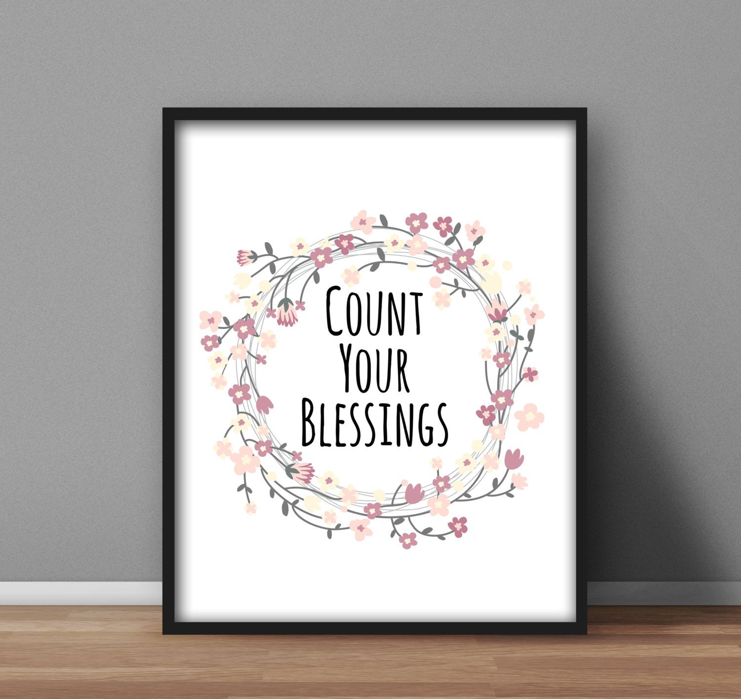 Instant Printable Count Your Blessings Digital Poster