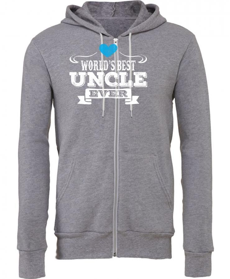 worlds best uncle ever 1 Zipper Hoodie