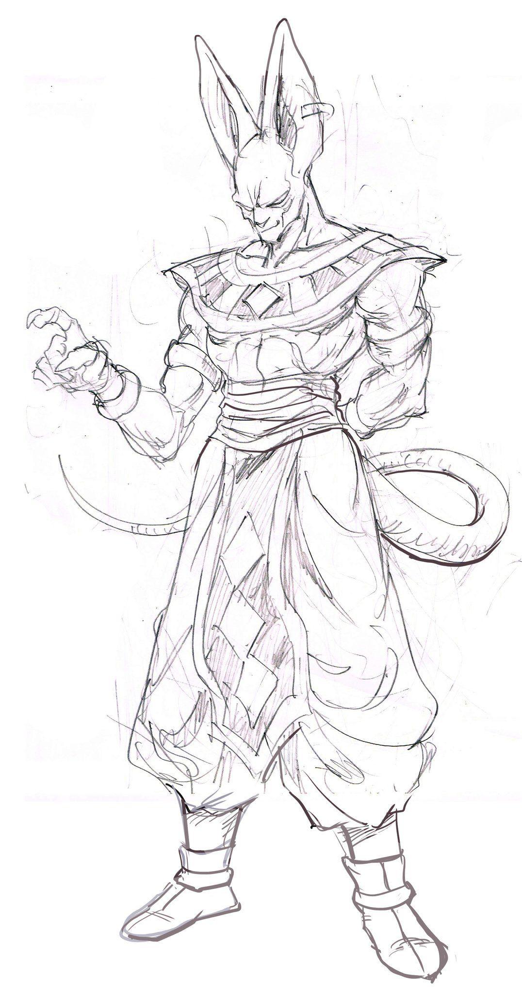Bills Por Murata Comunidaddibujante Taringa Dragon Ball Artwork Dragon Ball Dragon Ball Art