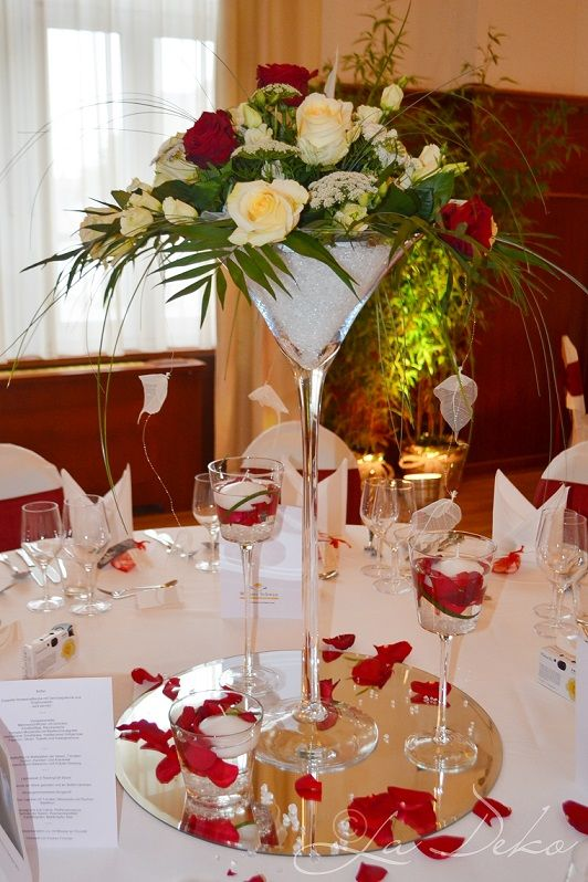 Vase Martini 70 Cm Vermietung Decoration Table Mariage Deco Mariage Centre De Table Table Mariage