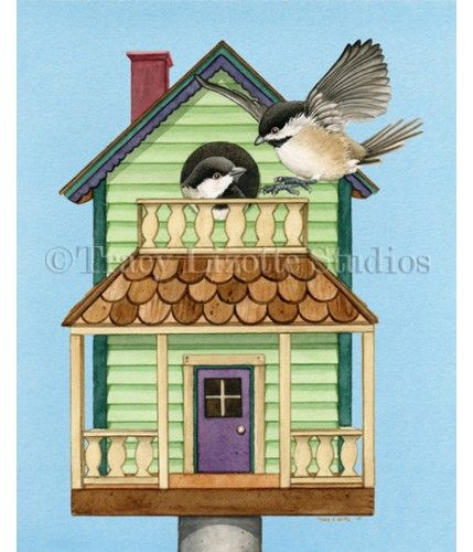 Cottage Living watercolor print available at TracyLizotteStudios.com