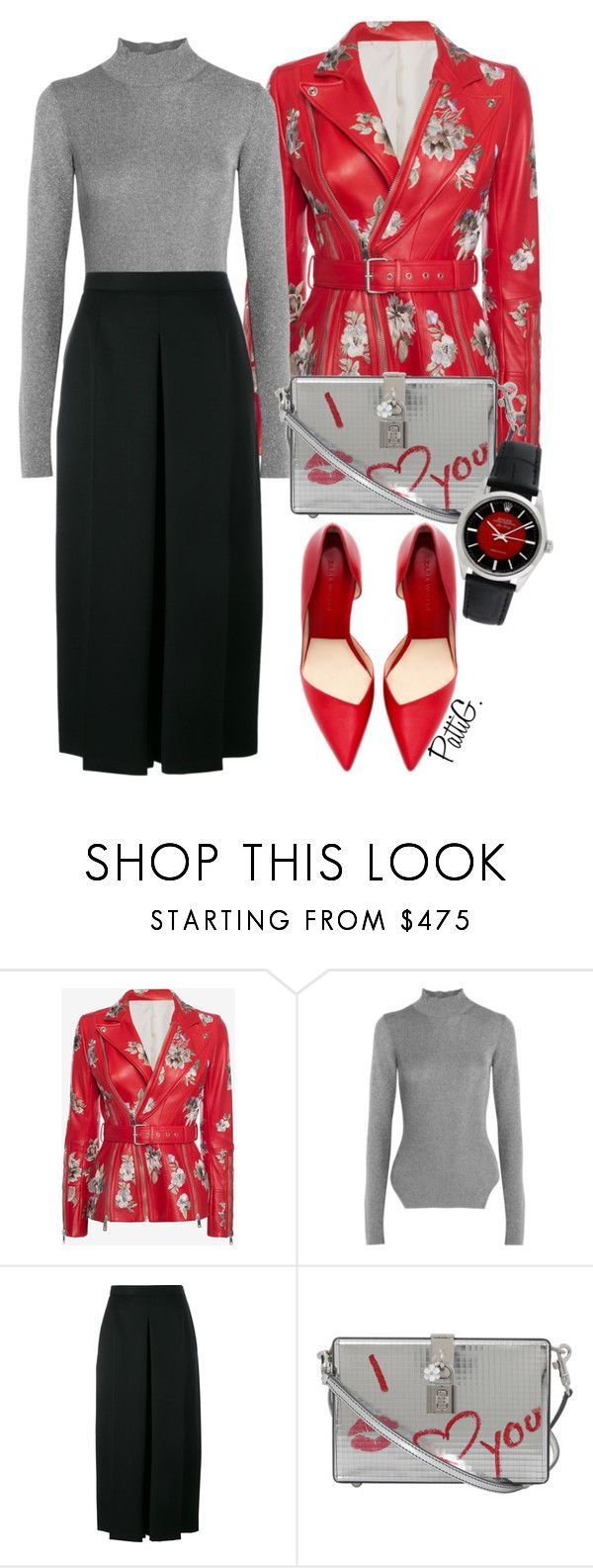 """AJA"" by patigshively ❤ liked on Polyvore featuring Alexander McQueen, Thierry Mugler, Dolce&Gabbana and Rolex"
