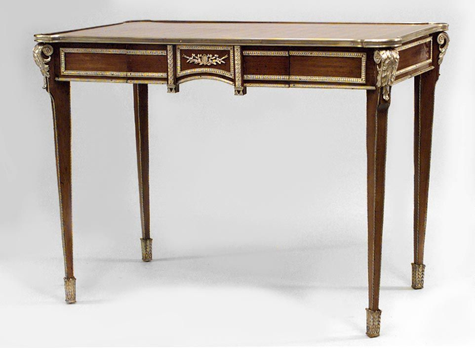 French Louis XVI table desk inlaid
