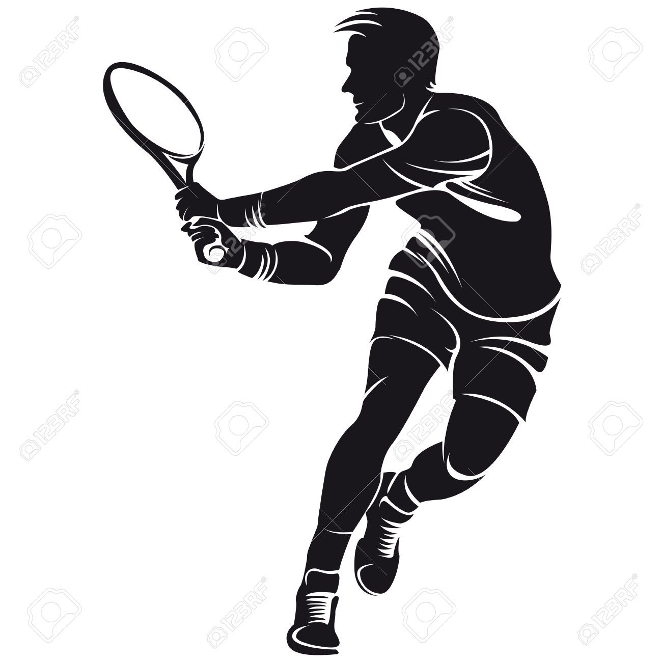 Silhouette Tennis Google Search Tatuirovki S Volkom Detskij Sad