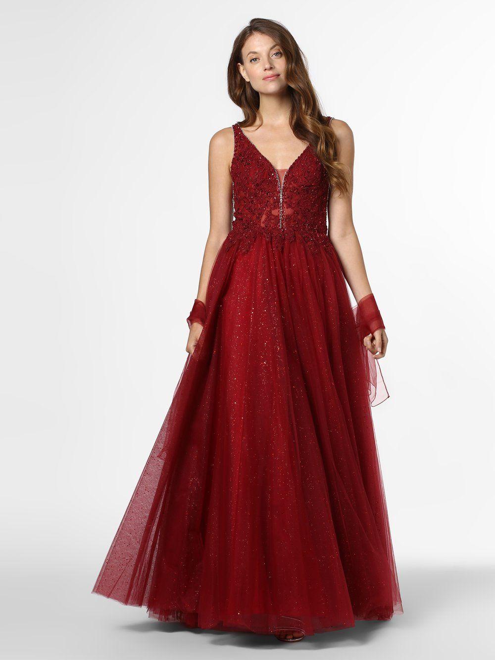 Mascara  Abendkleid mit Stola rot
