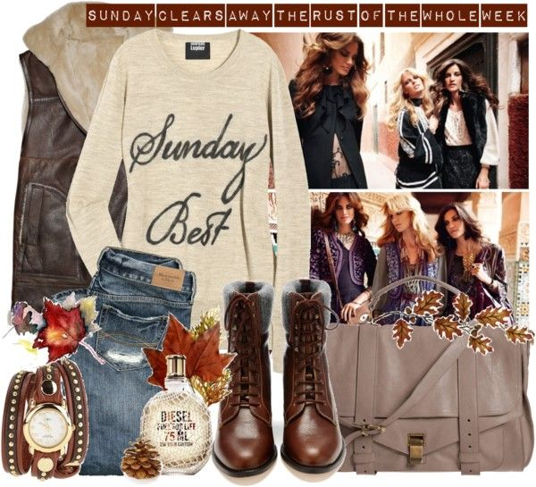 """""""Sunday clears away the rust of the whole week."""" by rossonerka ❤ liked on Polyvore"""
