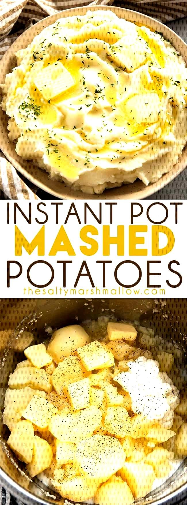 Instant Pot Mashed Potatoes are rich and creamy and so easy to make! Making mashed potatoes has nev