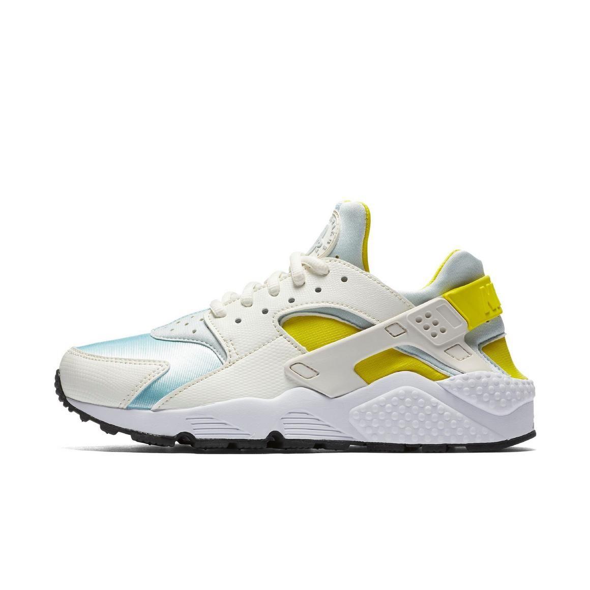 "Nike Air Huarache Run ""White/Blue/Yellow"" Women's Casual"
