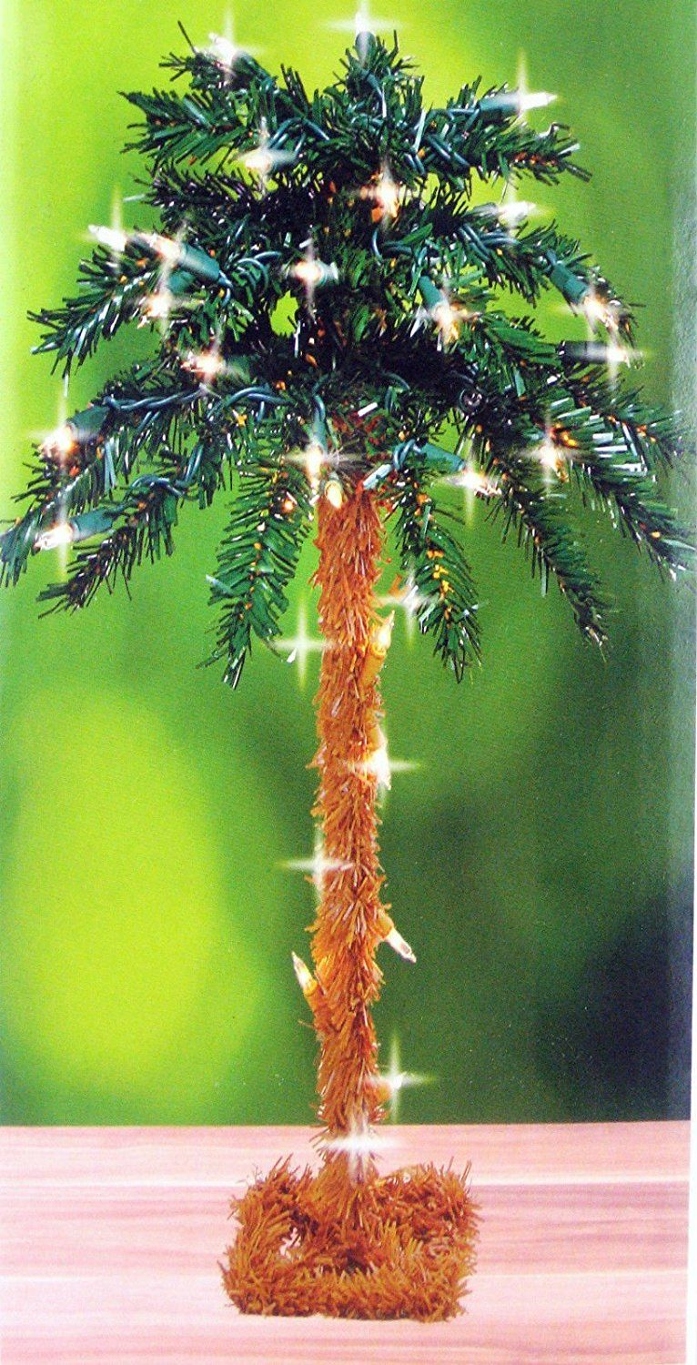 18 Inch Table Top Lighted Christmas Palm Tree 35 Lights Sensational Bargains Just A Click Away Ch Christmas Palm Tree Fake Palm Tree Palm Tree Decorations