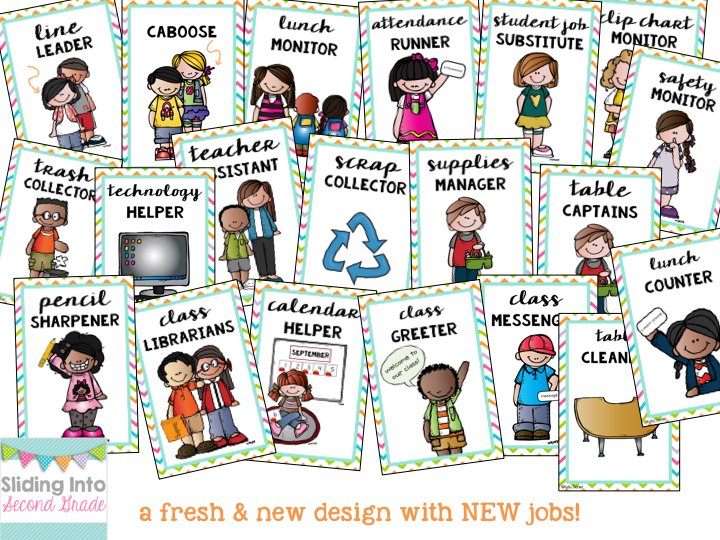 Get BTS prepared with these chevron classroom job cards! New ...