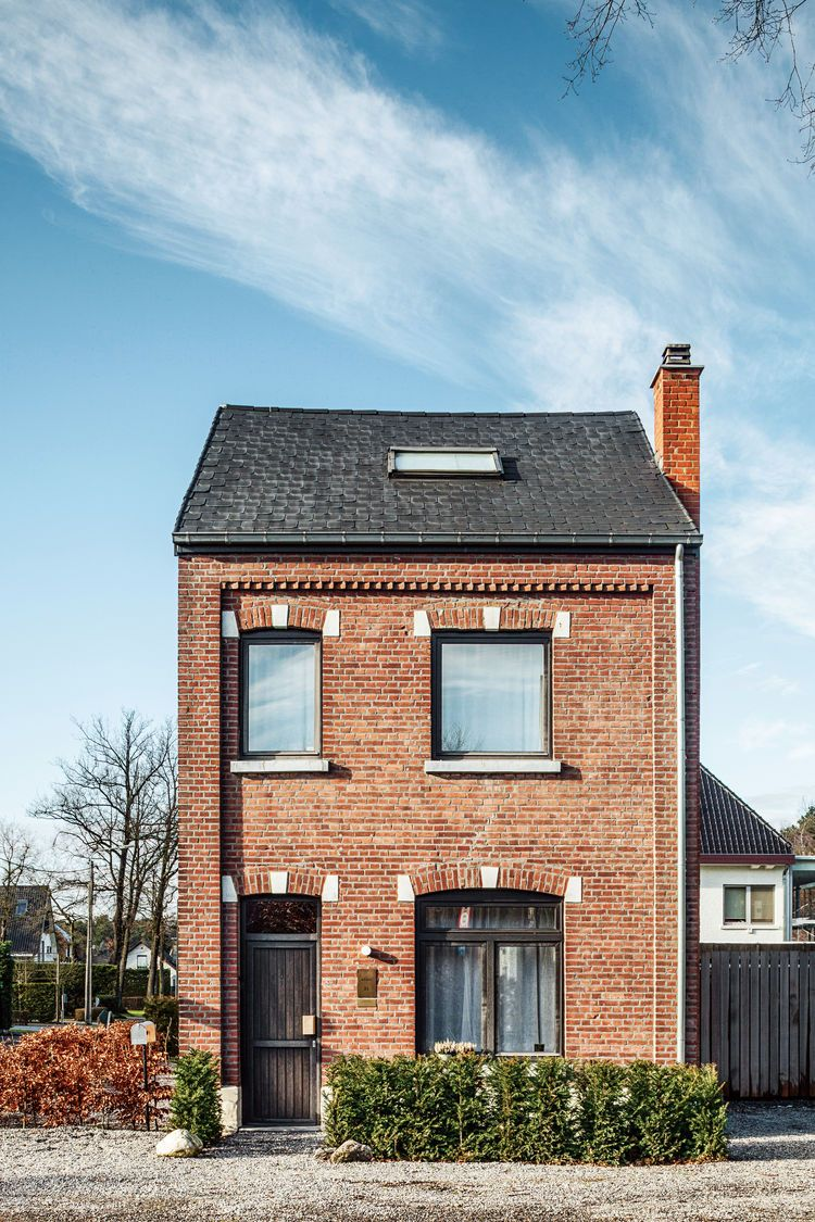 a clever belgian couple renovate their aging brick home | facades