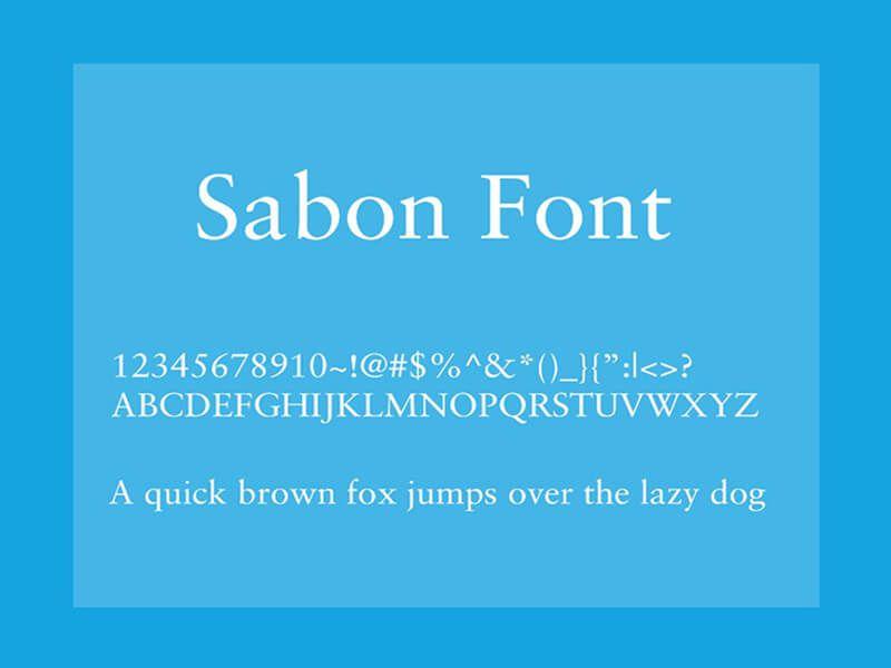 Sabon Font Free Download - Fonts Empire | Sabon Font Family Free
