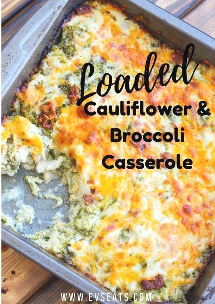 Loaded Cauliflower Broccoli Casserole | Keto Diet Meal Plan