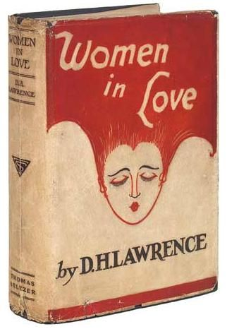 The gorgeous cover for the original 1920 edition of D. H. Lawrence's novel Women in Love, which is now available as a free ebook.