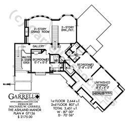Ashland Manor House Plan