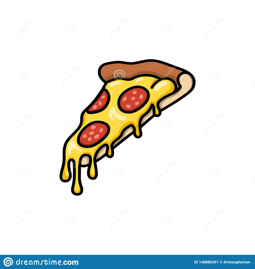 Pizza Slice With Melted Cheese Stock Pizza Drawing Pizza Slice Drawing Pizza Art