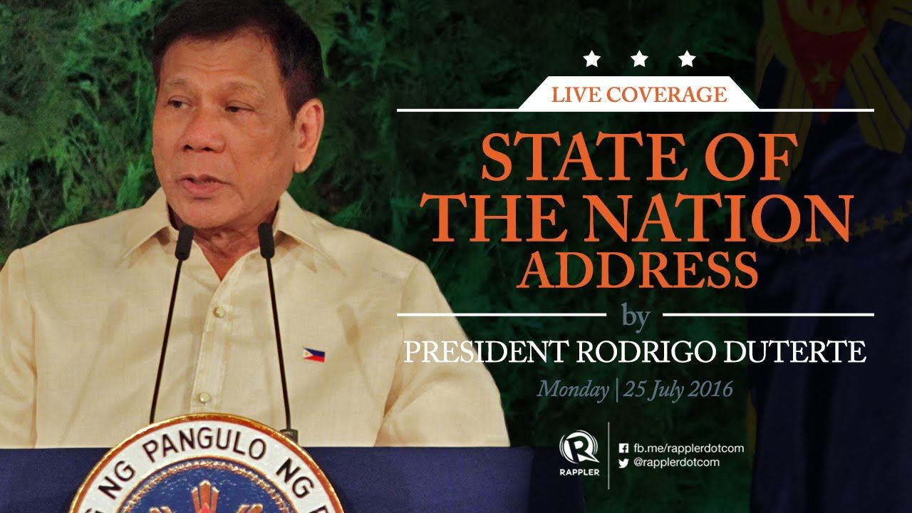 Live: Rappler's coverage of President Duterte's State of the Nation Addr...