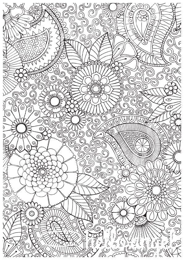 Paisley Floral - Colour with Me HELLO ANGEL - coloring, design ...
