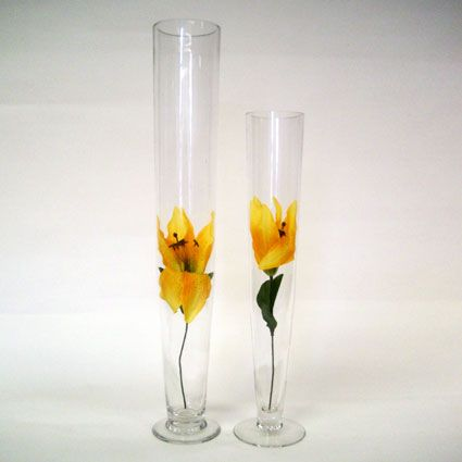 Bulk Trumpet Vases Of All Sizes For Tall Or Topiary Centerpieces