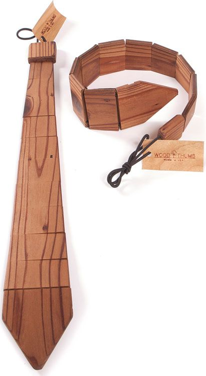 Wood tie. I could definitely rock this.