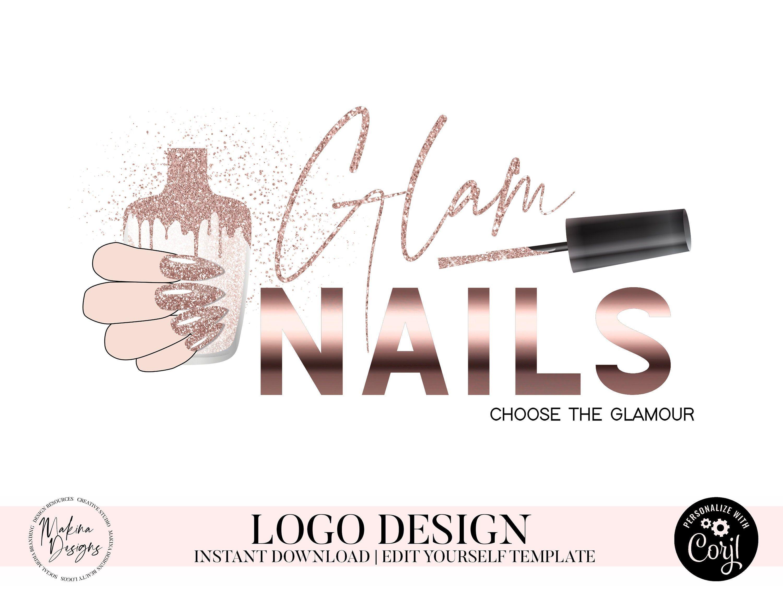 Nail Logo Design Ideas Fonts . Nail Logo Design em 2020