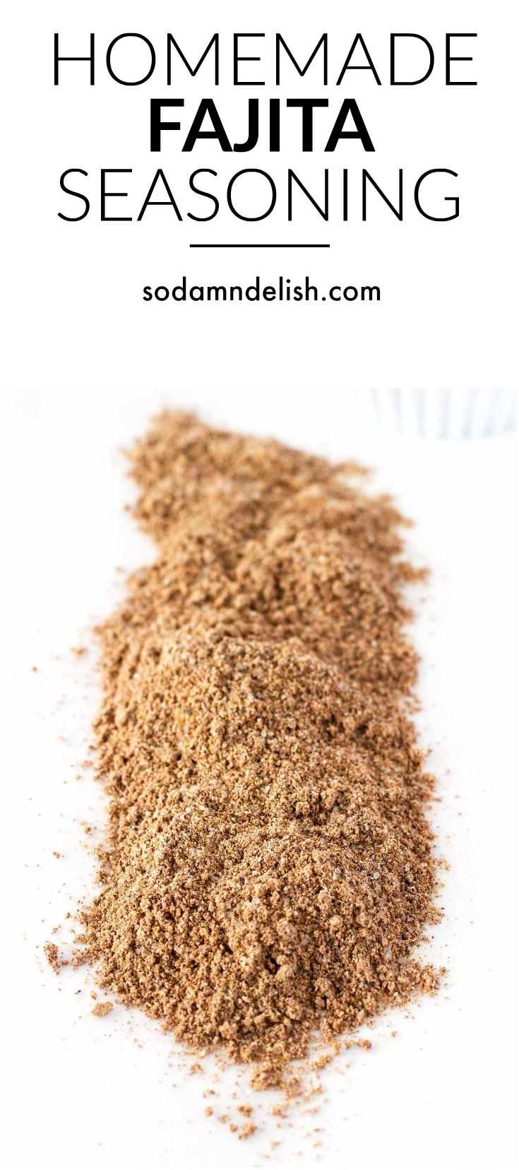 Homemade Fajita Seasoning Mix #homemadefajitaseasoning