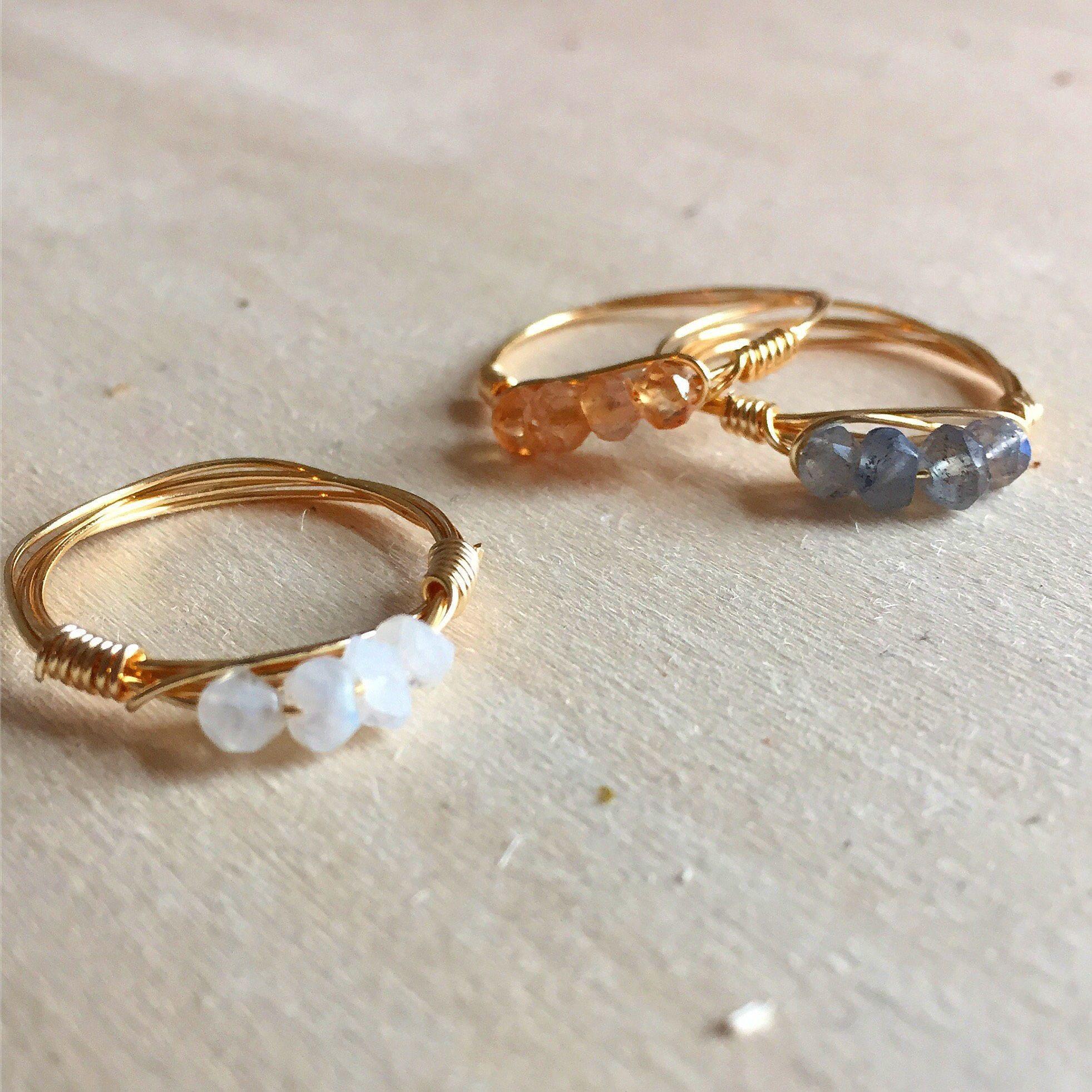 Stackable gemstone rings gemstone rings gold gemstone rings rose