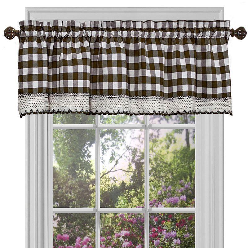 Buffalo Check Straight Window Valance 58 X 14 Products Buffalo Check Curtains Check Curtains Valance