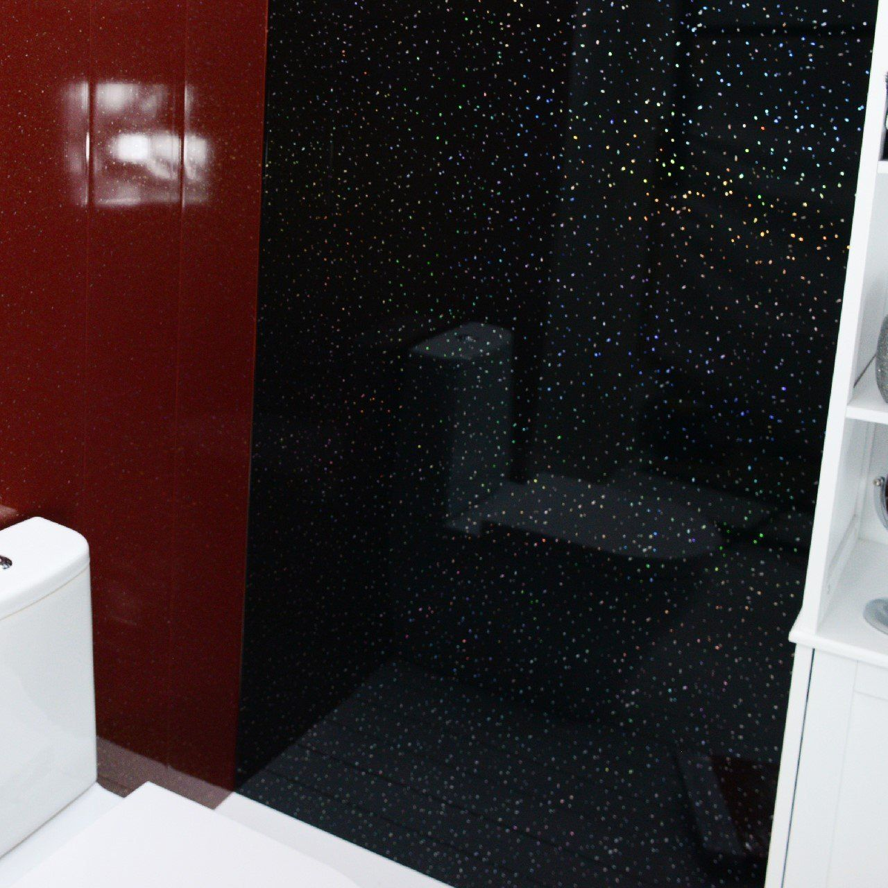 Black Bathroom Panels