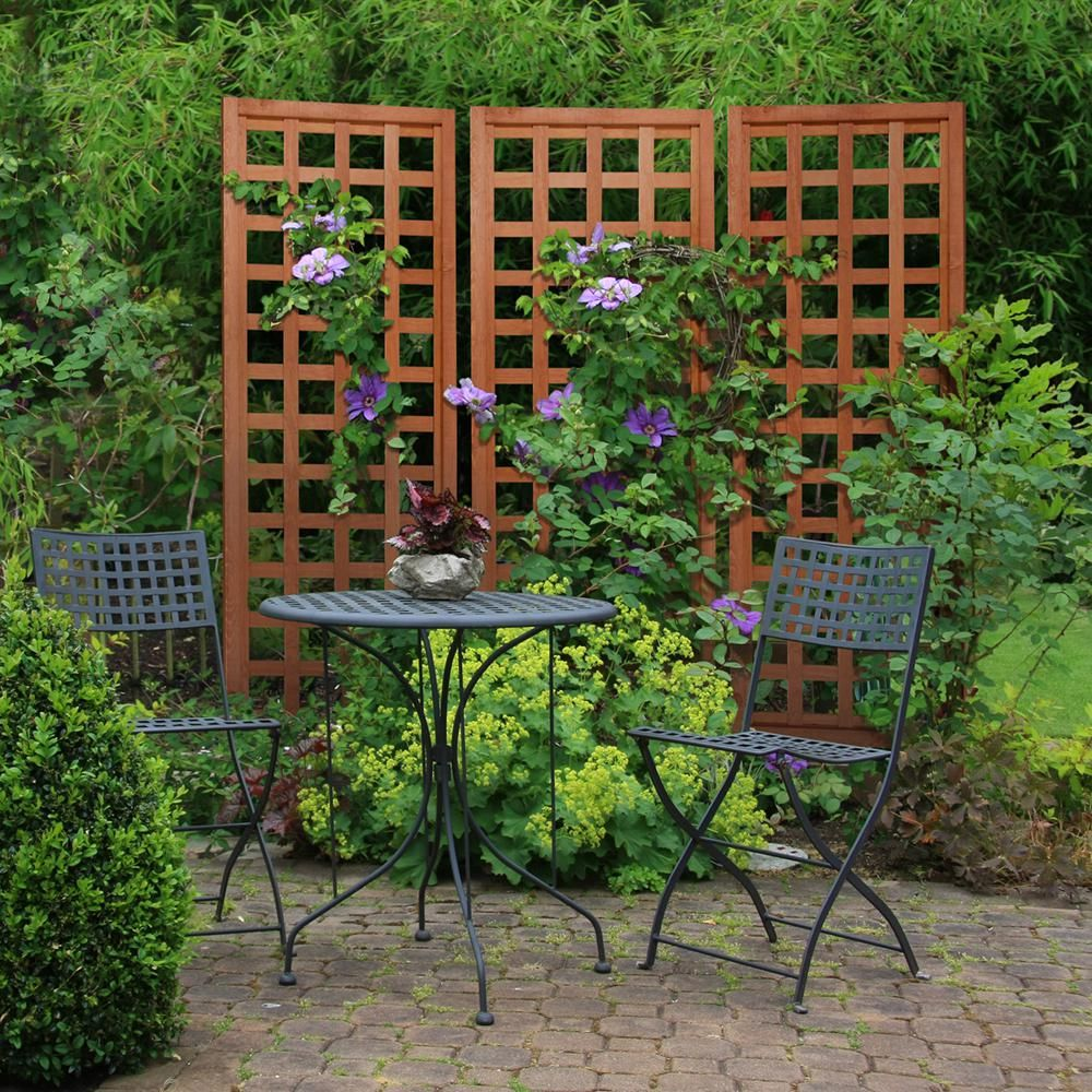 Outdoor Essentials 72 In Wood Square Lattice Trellis 309168 The Home Depot Backyard Trellis Lattice Trellis Diy Garden Trellis