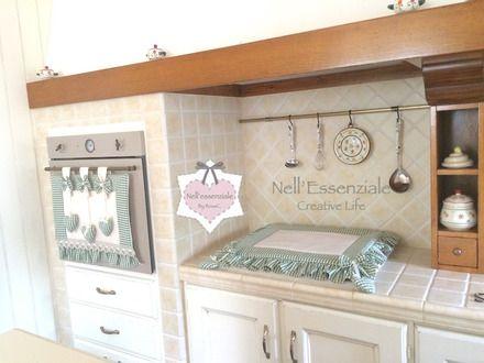 Coprisedie Cucina ~ Set cucina pezzi composto da copri forno e copri fornelli