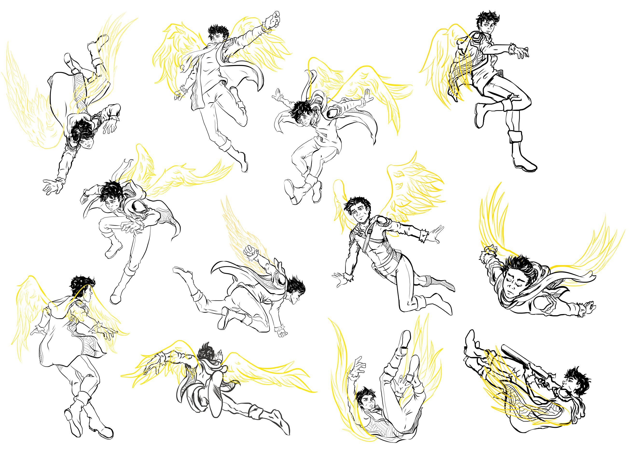 Aasimar Flying Dragon Poses Art Reference Poses Drawing Poses