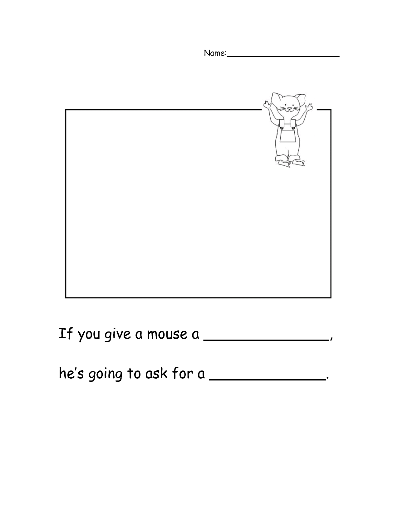 If You Give A Mouse A Cookie Printable Worksheets