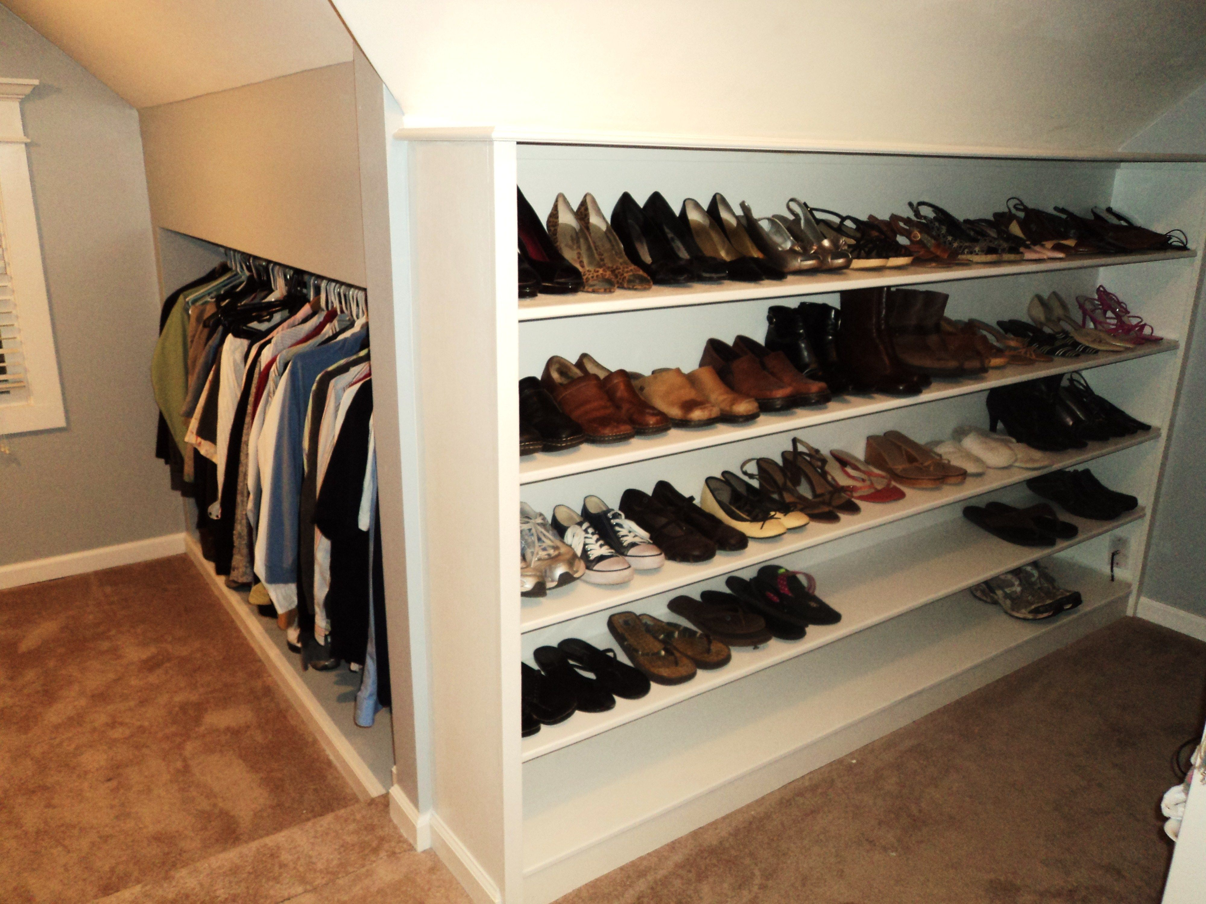 Unused Attic Space Used For More Storage In A Master Closet. (Actual Link: