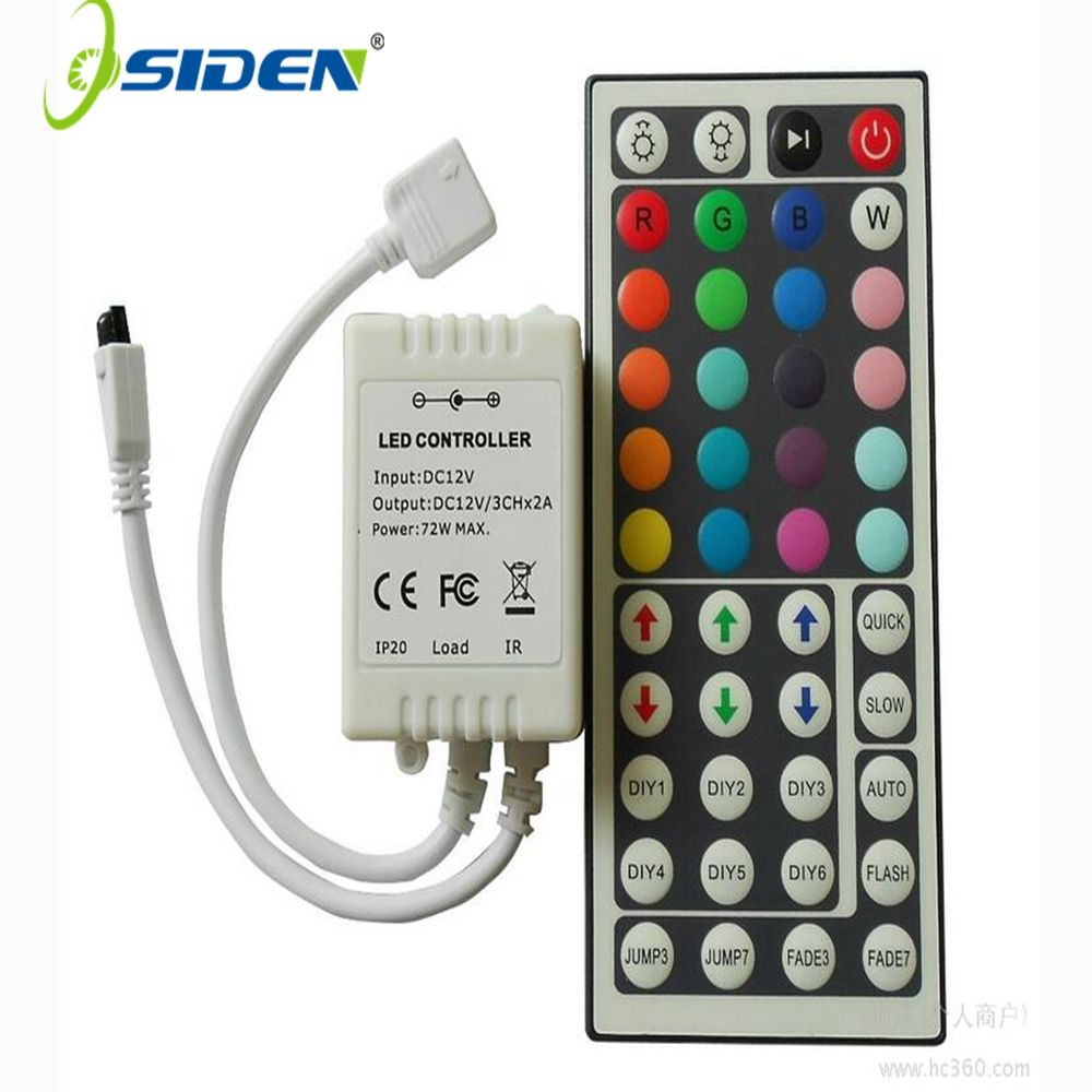 Osiden Led Controller 44 Keys Led Ir Rgb Controler Led Lights Controller Ir Remote Dimmer Dc12v 6a For Rgb 3528 5 Led Controller Led Flexible Led Strip Lights