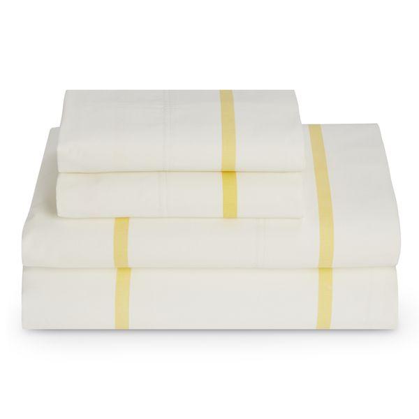 Tommy Hilfiger Lemon Drop HS Stripe Sheet Set - Overstock™ Shopping - Great Deals on Tommy Hilfiger Sheets