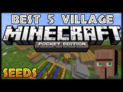 0 9 0] BEST 5 VILLAGE SEEDS! - Minecraft POCKET EDITION