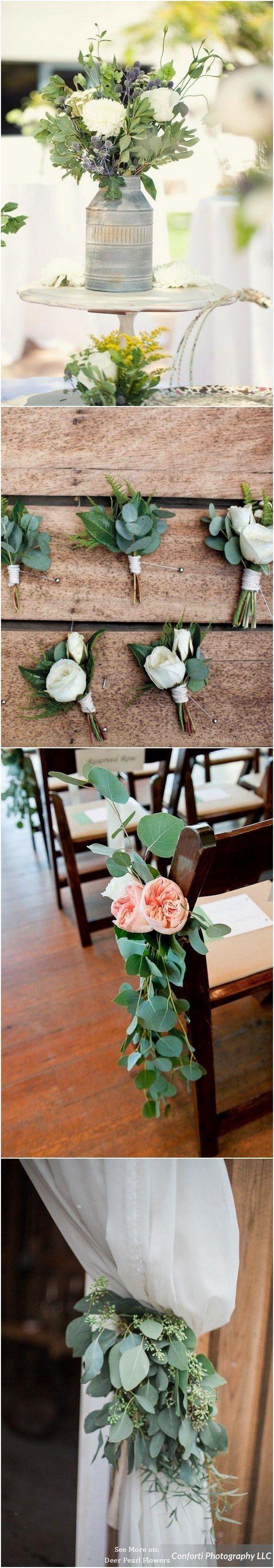 Wedding theme ideas by color  Eucalyptus green wedding color ideas  erpearlflowers