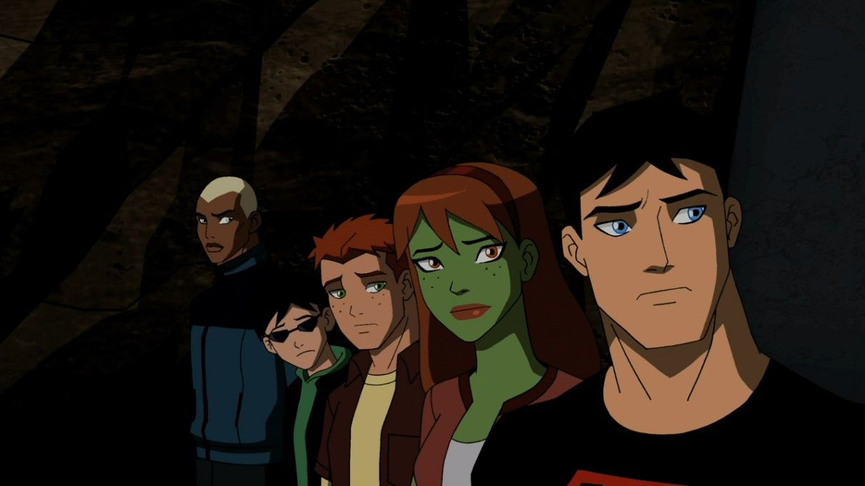 Aqualad, Kid Flash, Miss Martian, Robin, and Superboy in ...